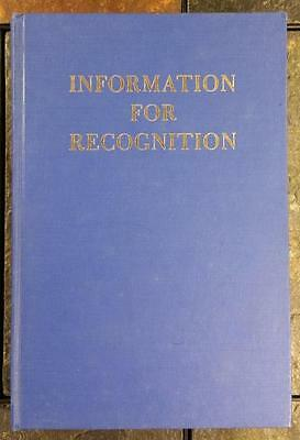 Information For Recognition Reports On Great Lodges In Other Lands 1958- Masonic
