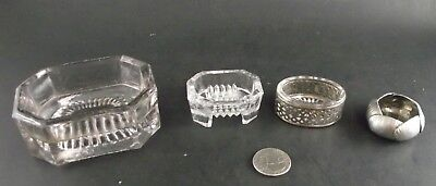 Open Salt Celler Collection Pewter ? Silver Plate Glass And General Store Item