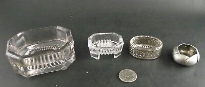 Open Salt Seller Collection Pewter ? Silver Plate Glass And General Store Item