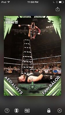 Topps WWE Slam Digital Card Trader Green Aerialists Finn Balor Insert