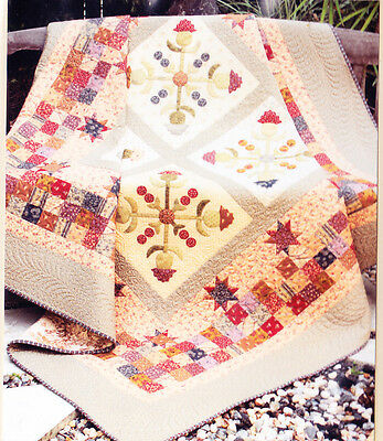 Cotton Thistle Baltimore - applique & pieced quilt PATTERN - The Birdhouse
