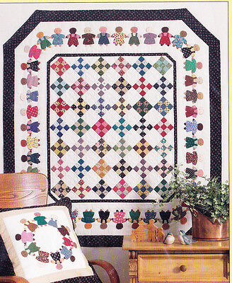 Peace Together - cute applique & pieced wall quilt PATTERN