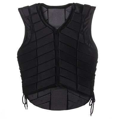 Black Equestrian Horse Riding Vest Protective Protective Gear Adult Small