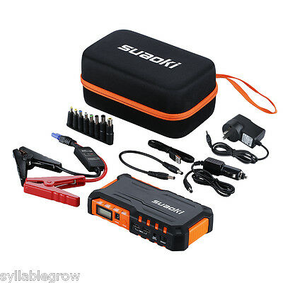 600A 18000mAh Battery Car Jump Starter Vehicles Booster Charger LED Power Bank