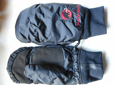 ORIGINAL MAMMUT mountain arctic MITTS black EXTREME COLD WINTER SKI SKIING