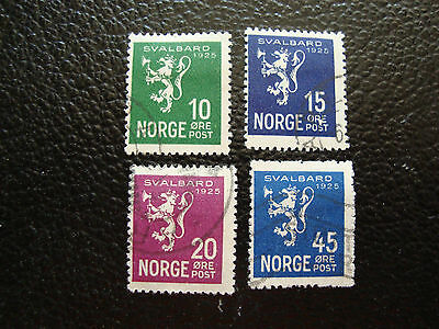 NORVEGE - timbre yvert et tellier n° 108 a 111 obl (A27) stamp norway