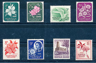 Norfolk Island 1960-62 Definitives Sg24/31  Mnh