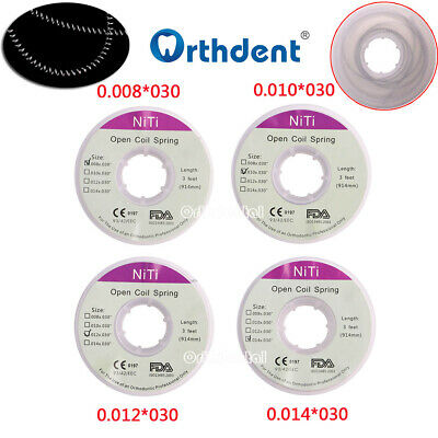 1 Piece/Roll Dental Orthodontic Niti Open Coil Springs 914mm 4 sizes Orthdental