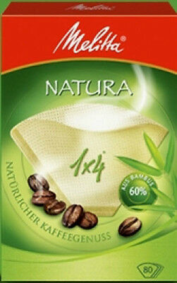 MELITTA 80 COFFEE FILTERS 1 x 4 MADE WITH 60% FAST GROWING BAMBOO NATURAL