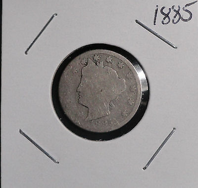 1885 Liberty V Nickel. Key-Date Collector Coin For Your Collection