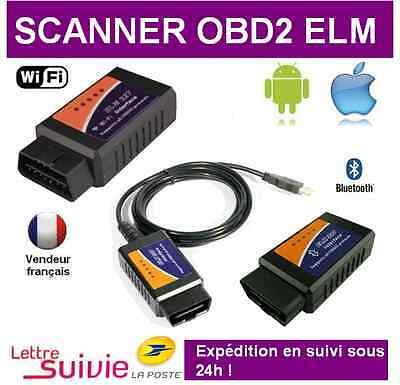 Interface Elm327 Usb Wifi Bluetooth Obdii Multimarques Obd Obd2 - Valise Scanner