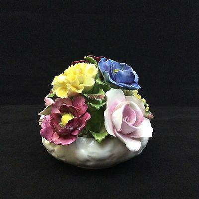 Vintage Aynsley Hand Modeled Painted Bone China Floral Figurine made in England