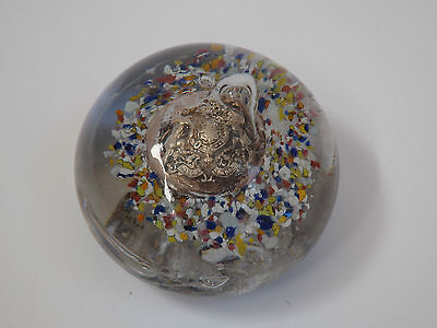 Scarce WW1 End Of Day Scramble Paperweight -  Set With Button c.1918