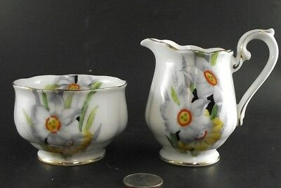 Royal Albert Narcissus Floral  Cream Pitcher  And Sugar  Ready To Ship !