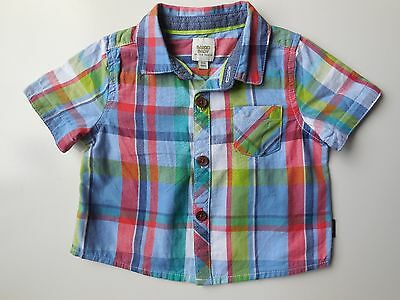 BAKER BABY by TED BAKER INFANT BOY CHECK SHIRT SIZE 000 FITS 0-3M