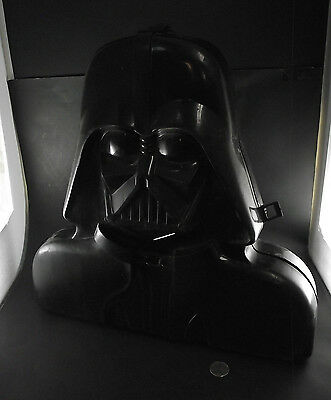 1980s DARTH VADER VINTAGE ACTION FIGURE CASE ACCESSORY STORAGE CONTAINER AS IS