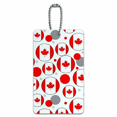 Luggage Card Suitcase Carry-On ID Tag Country National Flag A-C