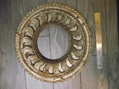 Antique Round Cast Iron Ornate Floor Grate Heat Register Vent Cover W Adjuster