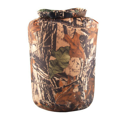12L Waterproof Roll Top Compression Bag Dry Sack Camping Bag Pouch Camo