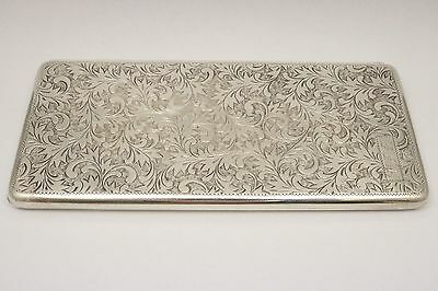 Antique Cigarette Case .950 Silver Highly Hand Engraved