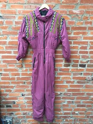 Vintage Snowsuit Ski Jumpsuit Womens Head Sportswear Purple (940)
