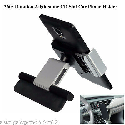 New Universal Car Van CD Slot Mobile Phone GPS Sat Nav Stand Holder Mount Cradle