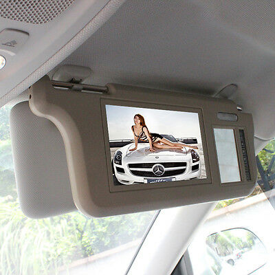 7 inch TFT LCD Car Sun Visor Monitors Display Video Rearview Mirror Retrovisor