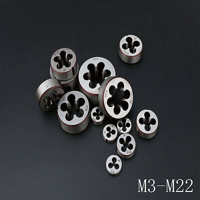 M5-M22 Metric Right/Left Hand Dies Pitch Thread Threading Tools Select Size