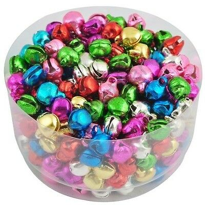 100/500/1000X Jingle Bells Xmas Charms Jewelry Mixed Beads Pendant Ornaments