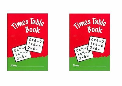 Ivy Times Tables Practice Books 1-20 Sums Times Tables Chart Exercise Book X 2
