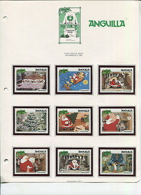 Mnh Anguilla / Dominica Christmas Stamps-1981!