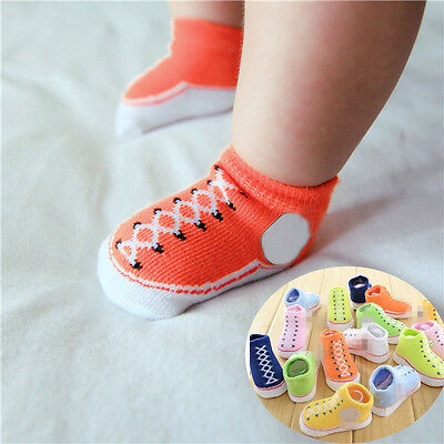 Lovely New Newborn Baby Girl&Boy Kid Anti-slip Socks Sole Crib Shoes 0-12 Months