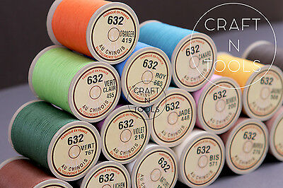 """New Sajou Fil au Chinois """"Lin Cable"""" Waxed Linen Thread #632. Leather Work Cord"""
