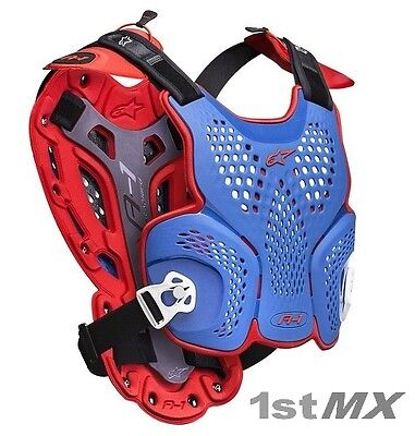 2017 MX Alpinestars A1 MXoN A-1 Chest Roost Protector Armour BLUE RED WHITE