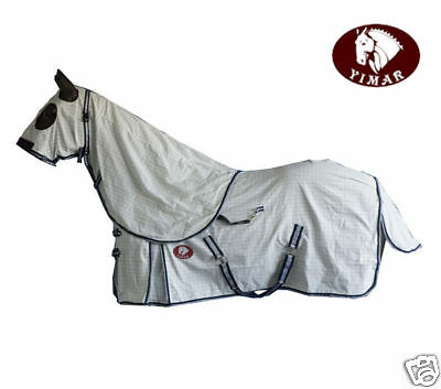 "Yimar 7'0"" Summer Ripstop Cotton Horse Rug and Hood Set SG70"