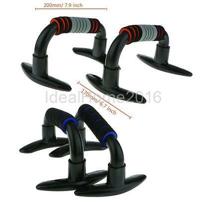 1 Pair Push Up Bars Pushup Stands Handles Grips Bar Equipment Exercise Home Use