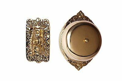 Doorbell Victorian Twist Hand Turn Handmade Polished Lacquered Brass Hardware