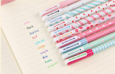 10pcs/lot Colorful 0.38mm Gel Pen Cute Pens Student Office Accessories Nice
