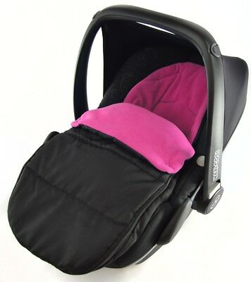 Car Seat Footmuff / Cosy Toes Compatible With ABC Design Cobra Risus - Pink Rose