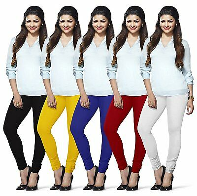 Wholesale Lot 5 Pcs Women Churidar Legging Cotton 4Way Yoga Pants  For Kurti Top
