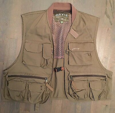ORVIS Green Fly Fishing Vest Adult Medium