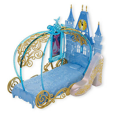 Disney Princess Cinderella's Dream Bedroom Playset Palace Carriage Bed for Doll