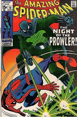 Amazing SpiderMan #78 1st Appearance Prowler Marvel Comic Group
