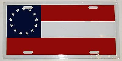"1st National Stars And Bars 13 Star 6""x12"" License Plate Sign"