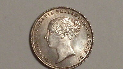 1866 Sixpence.Unusually Choice.P'like Obv..Victoria YH.1838-1887.British Milled.