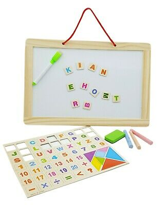 Children Education Learning White / Chalk Board Wooden Kid Reading Writing Maths