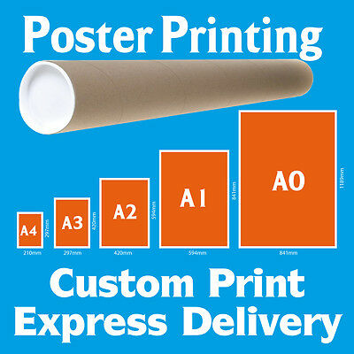 POSTER PRINTING SERVICE Full Colour Satin Gloss Poster Print A0 A1 A2 A3 A4