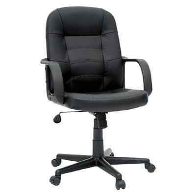 Room Essential Office Chair Bonded Leather Black
