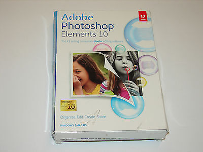 New Sealed Adobe Photoshop Elements 10 for Windows, Mac (PN: 65136852)