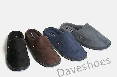 New Mens Cozy & Warm Faux Suede Bedroom Casual House Clog Slippers Shoes Sandals